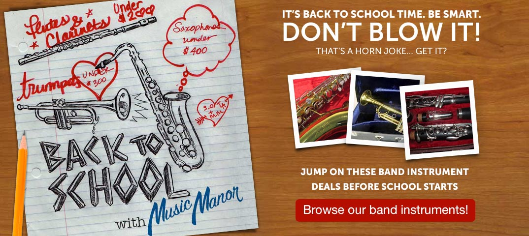 Back to School band instrument deals at Music Manor