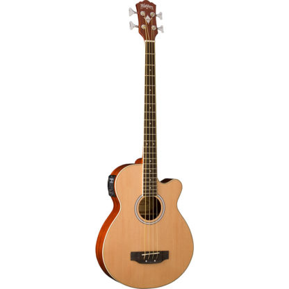 new washburn ab5k acoustic electric bass guitar