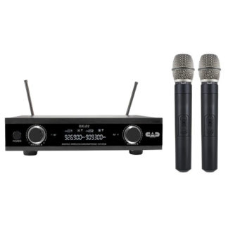 new cad dual handheld wireless mic system