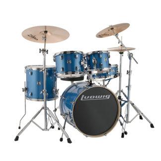 ludwig drum set blue sparkle finish