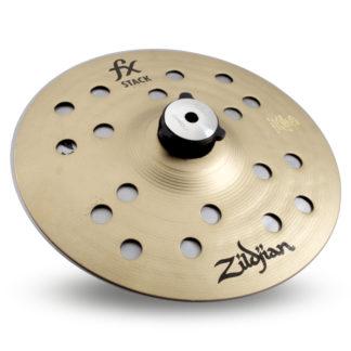 "zildjian fx 8"" stack cymbals w/ mount"