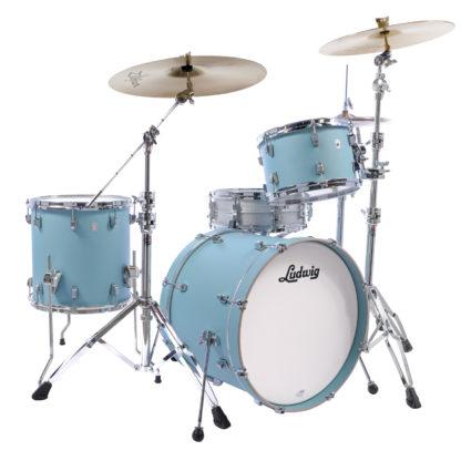 new ludwig neusonic skyline blue drum kit