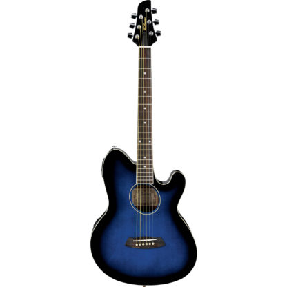 new ibanez electric acoustic guitar transparent blue